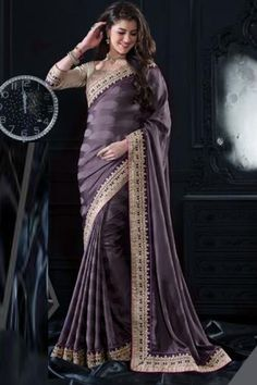 Buy Light Gray Georgette Party Wear Saree at Best Price from Variation. The largest online store for Sarees. - Product Title -Light Gray Georgette Party Wear Saree - Product Code -RS - 6326 - Type -De