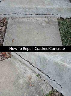 How To Repair Cracked Concrete   LivingGreenAndFrugally.com