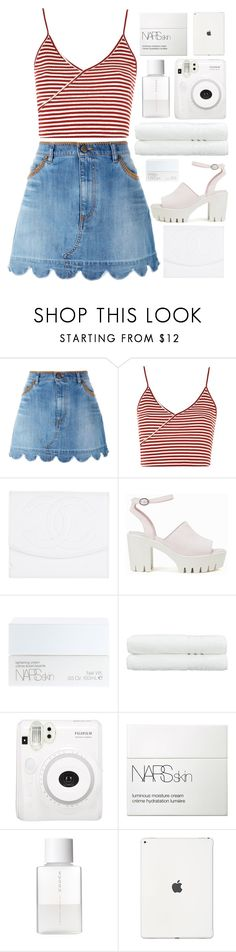 """♡playdate♡"" by charli-oakeby on Polyvore featuring RED Valentino, Topshop, Chanel, Nly Shoes, NARS Cosmetics, Linum Home Textiles, Fuji, SUQQU, Summer and happy"