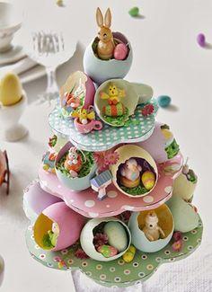 ideas para pascua de resurreccion cascarones dulces
