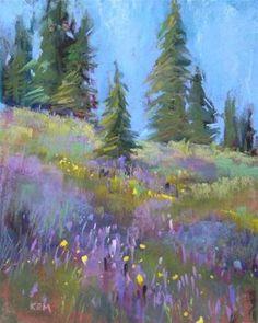 """A Visit to Colorado ...Yankee Boy Basin"" - Original Fine Art for Sale - © Karen Margulis"