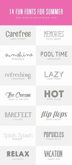 14 Fun Fonts for Summer.