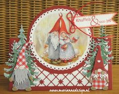 6sept Jeannette Christmas Elf, Christmas Crafts, Christmas Ornaments, Marianne Design Cards, Xmas Cards, Gnomes, Elves, Cardmaking, Projects To Try
