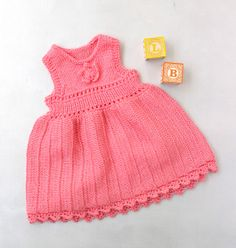 Knit Baby Dress, free pattern from Lion Brand!