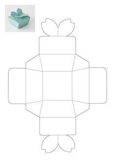Gift box template – source: Ideas Magazine Source by mynememyself Diy Gift Box Template, Box Template Printable, Paper Box Template, Origami Templates, Origami Gift Box, Origami Paper Folding, Origami Toys, Origami Ball, Paper Gift Box