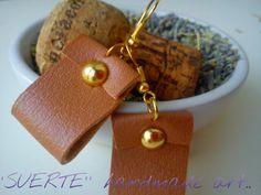 leather hook earings