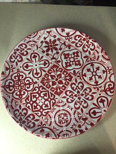 Ayşenur Özmen #çini #ceramic tile #red #plate