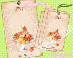 15x25 French Pastries LADUREE MACARONS Collage by pixelmarket, €1.50