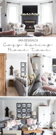 Cozy Spring Home Tour (Part 1) - http://akadesign.ca/cozy-spring-home-tour-part-1/  #cozyspringhometour