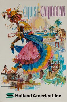 POSTER ARUBA YOUTH SUNNY BEACH FUN VACATION SUMMER TRAVEL VINTAGE REPRO FREE S//H