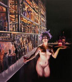Sala Lieber   Rotwein   Serie Zu Ihren Diensten   2020   Öl auf Leinwand   150 x 170 cm Drawings, Painting, Art, Oil On Canvas, Red Wine, Art Background, Painting Art, Kunst, Sketches