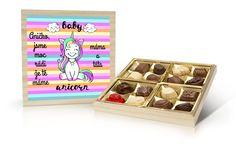 Navrhněte si svou vlastní bonboniéru s motivem jednorožce a doplňte své přání Coasters, Baby, Coaster, Baby Humor, Infant, Babies, Babys