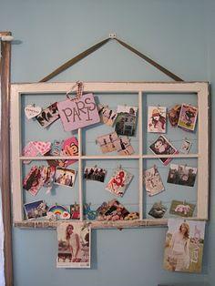 Cute photo display ideas.