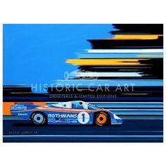 1982 Porsche 956 at Le Mans - Print