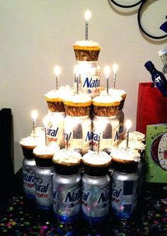 Birthday Beer Cake Idea: Instead of cupcakes, cheesecakes! Husband 30th Birthday, 30th Birthday Parties, Birthday Beer, Happy Birthday, 30th Birthday Ideas For Men Surprise, Birthday Cake For Boyfriend, Funny Birthday, Surprise Boyfriend, Birthday Wishes