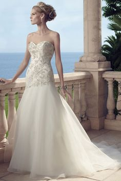 Casablanca Bridal - Colonial. Strapless sweetheart gown