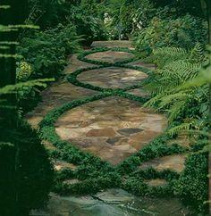 garden-pathway-idea4 Jardim: 55 ideias para canteiros e caminhos canteiros dicas fotos jardinagem madeira natureza
