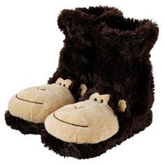 Who said that a monkey just belongs in the jungle? Slip into these cheeky monkey Fun For Feet Slipper Socks and you'll find these particular monkeys soft, squishy and super warm on your toes.…