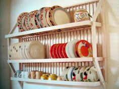 Wall-Hung Dish Rack; drying and storage in one. This seems like a great idea for dishes used daily.