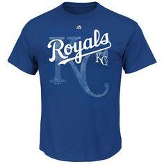 Majestic Kansas City Royals Royal On Deck T-Shirt
