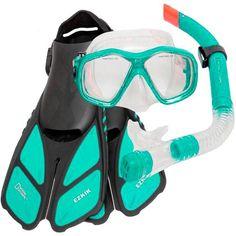 National Geographic Mask, Snorkel, Split Fins & Mesh Bag