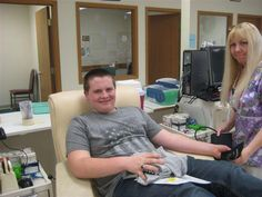 Congratulations to 16-year old Mitchell Gehret for making his first lifetime donation at the Springfield CBC. His father donated platelets the same day, and has set a good example for Mitchell. Thank you Mitchell!