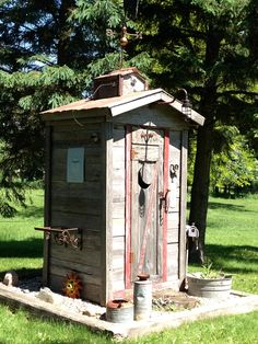 decorated outhouse
