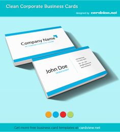 Clean Corporate Free Business Cards PSD Templates