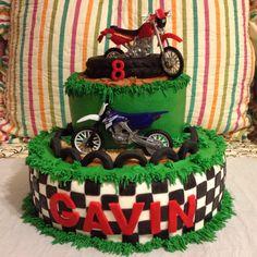 Motocross Dirt Bike Boys Birthday Cake