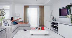 cortina com persiana para sala branca