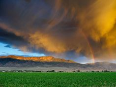 Storm Clouds, Utah  Photograph by Steven Besserman, My Shot    This Month in Photo of the Day: Travel and Adventure Photos    Storm clouds move in over a Utah cornfield at sunset.