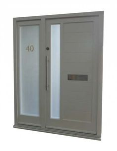 Modern front door decor side panels ideas for 2019 Contemporary Front Doors, Modern Front Door, Double Front Doors, Front Door Design, Modern Entry, Front Door Entrance, Glass Front Door, Front Door Decor, Yellow Front Doors