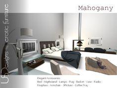 NEW!!! U.S. Designs Mahogany Bedroom set 1012 HQ animations Xpose - RLV, xcite! and sensations compatible new BDSM menu