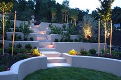 Terraced Hillside, Stucco Walls  Retaining and Landscape Wall  Landscaping Network  Calimesa, CA