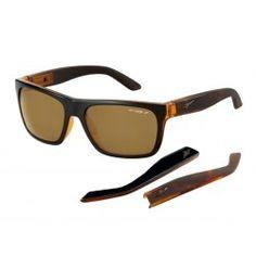 gafa de sol Arnette AN4176 Dropout 216483 negro transparente lente marron polarizado