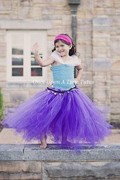 6399bcab3a8 Détails sur Gypsy Purple Blue Gold Robe de Tutu pour Enfants Petites Filles  2T 3T 4T