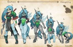 Cooler antennae anthro black body blue hair changeling cleavage female generation 4 green eyes horn human humanized looking at viewer queen chrysalis royalty simple background smile smirk solo sword to keep weapon wings My Little Pony Comic, Mlp My Little Pony, My Little Pony Friendship, Queen Chrysalis, Equestria Girls, Fluttershy, Rainbow Dash, Cartoon As Anime, Little Poni