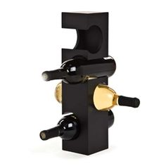 This free standing wine rack is a space-conscious tool for storing your vino. It's made with MDF wood construction and designed to hold four wine bottles in perfect b. Granada, Gifts For Wine Drinkers, Beyond The Rack, Wine Bottle Holders, Wine Bottles, Diy Pallet Furniture, Furniture Ideas, Construction Design, Stylish Home Decor
