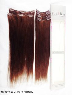 "Add volume and length to your hair using Lynelle Clip On Human Hair Extensions. Hair extensions are a fast and easy way to find a creative new look to achieve add volume and extra length to your hair with Lynelle 16"" Clip on Human Hair Extensions. Price: 3,500.00-3,800.00 Product Code: 16"" set #4 (medium brown) Availability: Limited stocks only ORDER ONLINE NOW!....SECURE FAST TRANSACTION"