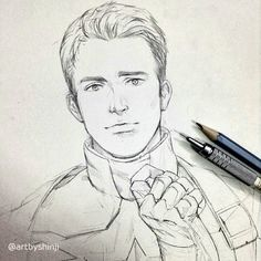 Hbd chris evans ✨ illustration/references в 2019 г. marvel d Marvel Avengers, Marvel Art, Marvel Memes, Art Drawings Sketches, Easy Drawings, Pencil Drawings, Captain America Drawing, Chris Evans Captain America, Boy Drawing