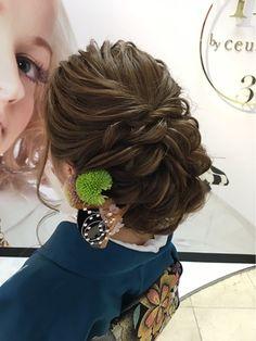 Hair Arrange, Hair Setting, Japanese Hairstyle, Pearl Hair, Bride Hairstyles, Hair Piece, Hair Dos, Salons, Hair Beauty