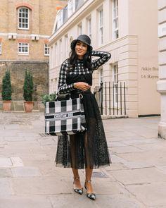 """Michaela Efford Photography on Instagram: """"Lady Dior 🖤 @tamara at @erdem 📸 by @michaelaefford_photography . . . #michaelaeffordphotography #lfw @dior #tamara #styledaily…"""" Erdem, Lady Dior, London Fashion, Lace Skirt, Street Style, Skirts, Photography, Instagram, Fotografie"""