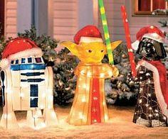 ♥♥ Geeky Star Wars Christmas for Leah Kaye! ♥♥ Star Wars™ Holiday Decor-best Christmas decor ever! Outdoor Christmas Decorations, Christmas Lights, Christmas Time, Yard Decorations, Disney Christmas, Christmas Movies, Merry Christmas, Star Wars Light, Look Vintage
