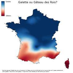 La carte de France des mangeurs de galette à la frangipane et des amateurs de gâteau des rois | support fle b1