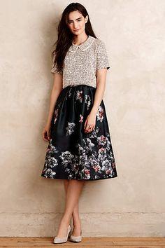 Emerald Bouquet Skirt - anthropologie.com