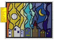 Free du Lundi ! Cross Stitch House, Modern Cross Stitch, Cross Stitch Charts, Cross Stitch Designs, Cross Stitch Patterns, Pixel Art, Hama Art, Stain Glass Cross, Cross Stitch Pictures
