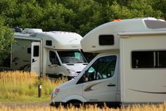 Two Itasca Navion Class C Motorhomes at Morefield Campground, Mesa Verde National Park, Colorado, September 15, 2009 (pinned by haw-creek.com)