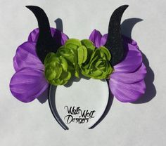 Maleficent Floral Crown/Mouse Ears by WyfeWolfDesigns on Etsy, Disney Diy, Disney Crafts, Cute Disney, Maleficent Party, Disney Ears, Mickey Minnie Mouse, Disney Mickey, Disneyland Trip, Disney Trips