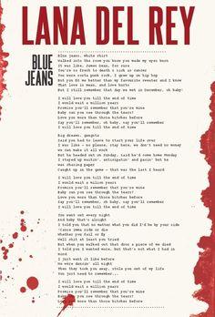 Lyrics Blue Jeans - Lana del Rey