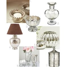 I love mercury glass! Romantic Look, Mercury Glass, Luxury Fashion, Diy, Vintage, Bricolage, Do It Yourself, Vintage Comics, Homemade